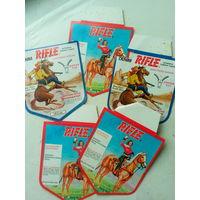 Этикетки картонные от джинсов RIFLE  CCCР