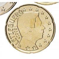20 евроцентов 2009 Люксембург UNC из ролла