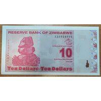 10 долларов 2009 года - Зимбабве - UNC
