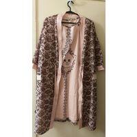Халат с ночной сорочкой для беременной мамы в роддом, р.50-52, новый комплект