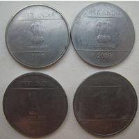 Индия 1 рупия 2007, 2008, 2009 гг. Цена за 1 шт. (g)