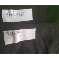 Ткань вельвет, черный, 1980-х гг. (1,40х1,00 и 0,58х1,00)
