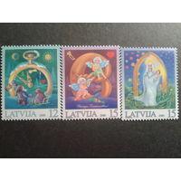 Латвия 2000 Рождество полная серия