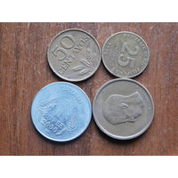 Четыре монеты  с 1рубля 5
