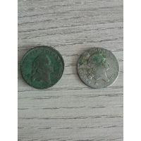 4 серебряных гроша 1767г.FS .   3 гроша 1767г. медь.