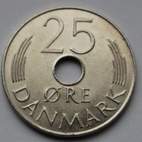Дания, 25 эре 1975 г