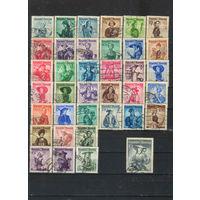 Австрия Респ 1948-53 Женские национальные костюмы Полная  #893-926,978-980