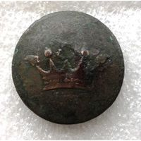 Ливрейная пуговица с короной маркиза. Производитель Копейкин. Диаметр - 30 мм.