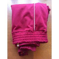 Детская новая шерстяная зимняя ремонтная автослесарная красно-фиолетово-розово-пурпурная блестящая светящаяся с красно-розово-пурпурным отливом кофта на застёжке под горло для мальчика от 16 до 18 лет