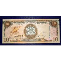РАСПРОДАЖА С 1 РУБЛЯ!!! Тринидад и Тобаго 10 долларов 2006 год UNC