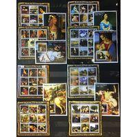 Гвинея Искусство Картины Рембрандта Рафаэля Леонардо да Винчи Дюрера и других художников 2002 год чистый полный комплект из 8-ми листов и 6-ти блоков 3880-3954 по Михелю