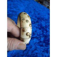 Марокканский латунно-костяной браслет. Торги!