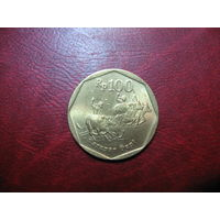 100 рупий 1998 года Индонезия