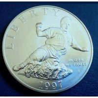 США 1 доллар 1997 S. Джеки Робинсон. Редкость.