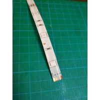 Лента светодиодная RGB 5050 (1.1м, 30LED/м, IP65 Водонепроницаемая, 12В, Белая основа)