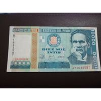 10 000 интис Перу  1988 г
