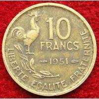 6940:  10 франков 1951 Франция