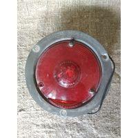 Винтажный американский железнодорожный красный фонарь светофора. Дизайн, декор, интерьер, коллекционирование, обмен.