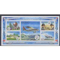 [1277] Лесото 1983. Авиация.Самолеты. БЛОК.