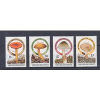 [667] Гренада-Гренадины 1986.Грибы.  4 МАРКИ + БЛОК.