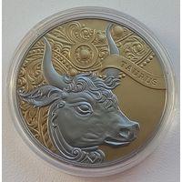 Год Быка 1 рубль NiCu символ года Бык - Телец 2014