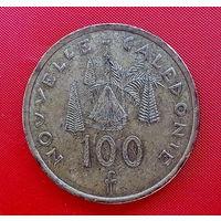11-05 Новая Каледония 100 франков 2008 г. Единственное предложение монеты данного года на АУ