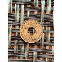 Британская Восточная Африка 1 цент 1942 г.