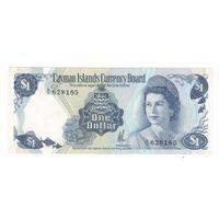 Каймановы острова 1 доллар 1974 года. Тип подписи 1 (короткая). Состояние UNC-!