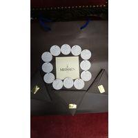 "Медальоны Мейсен (Meissen). Набор ""Знаки зодиака"", фарфор-бисквит, диаметр 3см."
