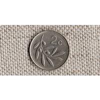 Мальта 2 цента 1993 /флора//(JN)