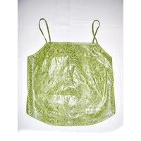 Кофта летняя на брительках, р.42-44, эффект под кожу, темно-зелёная, новая