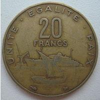 Джибути 20 франков 1996 г.