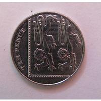 10 пенсов, Великобритания 2013 г., AU