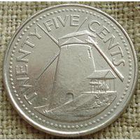 25 центов 1998 Барбадос