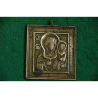 """Икона ( иконка )  """" Смоленский образ  Божьей  Матери  """"   5 х 6,2"""