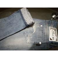 Женские джинсы со стразами Италия