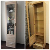 Шкаф с витриной для книг состояние нового см фото