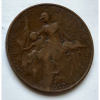 Франция 10 сантимов, 1907 2-5-13