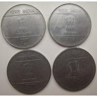 Индия 2 рупии 2007, 2009 гг. Цена за 1 шт. (g)