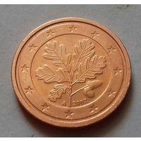 2 евроцента, Германия 2002 А, AU