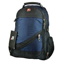 Городской рюкзак синий или черный с AUX, USB + дождевик и кодовый замок
