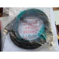 Кабель USB 2,0 AM-BM - кабель для подключения принтера 3 метра черный, толстый