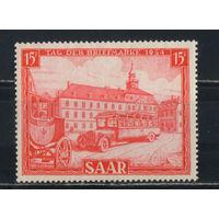 Германия Саарленд Оккупации 1954 Год письма Почтовый автобус #349*