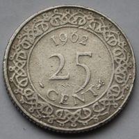 25 центов 1962 Суринам