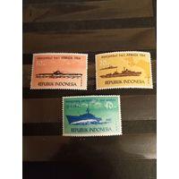 1964 Индонезия полная серия корабли морской флот MNH**одна с лёгкой наклейкой(3-11)