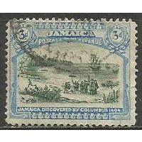 Ямайка. Прибытие Колумба на Ямайку. 1921г. Mi#92.