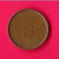 38-17 Финляндия, 5 пенни 1964 г.