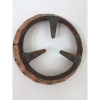 Старая решетка с кольцом от плиты Латунь/бронза