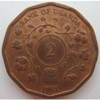 Уганда 2 шиллинга 1987 г. (g)