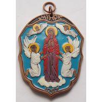 Цветная керамическая медаль с гербом Минска